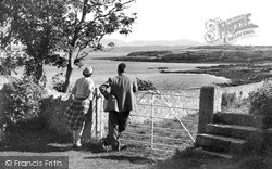 The Stile And Mountains c.1955, Moelfre