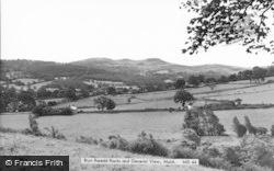 Mold, Bryn Rosedd Rocks And General View c.1960