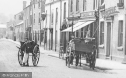 Mold, Carts In New Street c.1900