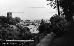 Mold, The Church From Bailey Hill c.1960