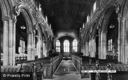 Mold, The Church Interior c.1955