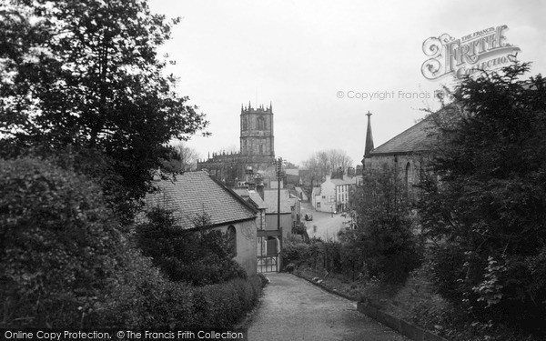 Mold, view from the Hill c1955