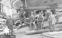 Mold, Workers At Cat Hole Mine c.1900