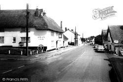 Monks Eleigh, The Street And Swan Inn c.1960