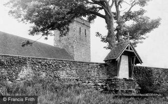 Monkton, War Memorial and Church of Mary Magdalene c1960