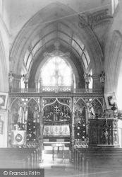 Monkton Wyld, St Andrew's Church, Interior c.1900
