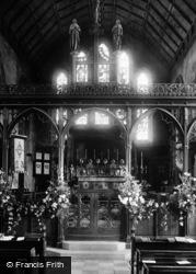 Monmouth, Parish Church Interior 1898