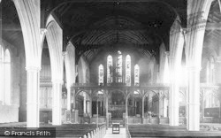 Monmouth, St Mary's Church Interior 1893