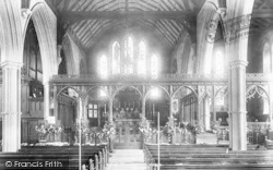 Monmouth, St Mary's Priory Church, Interior 1898