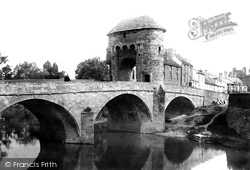 Monmouth, The Bridge Over The Monnow 1891