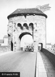 Monmouth, The Monnow Bridge Gate c.1960