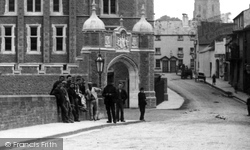 Monmouth, Workmen By The Grammar School 1896