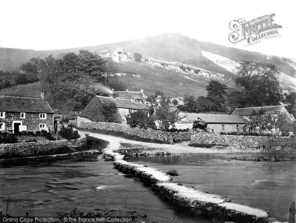 Monsal Dale, from the Bridge c1864