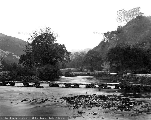 Monsal Dale, Stone Footbridge c1864