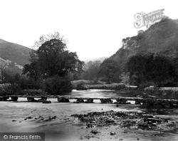 Monsal Dale, Stone Footbridge c.1864