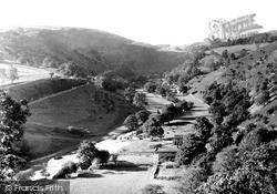 The Valley From The Hotel c.1955, Monsal Dale