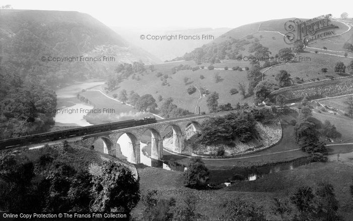 Photo of Monsal Dale, Train Crossing The Viaduct 1914