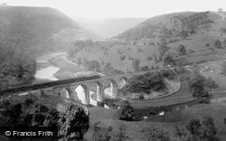 Train Crossing The Viaduct 1914, Monsal Dale