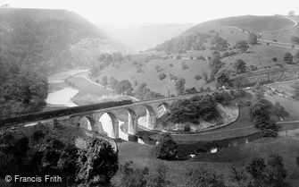 Monsal Dale, Train crossing the Viaduct 1914