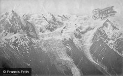 From Brevent c.1874, Mont Blanc