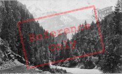 From Pont Pellissier c.1874, Mont Blanc