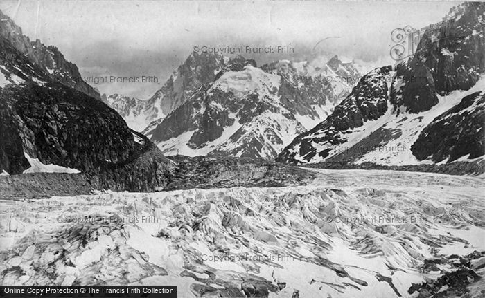 Photo of Mont Blanc, Mer De Glace c.1874