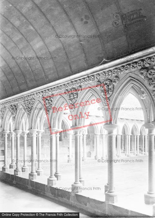 Photo of Mont Saint Michel, Abbey, The Cloister c.1890