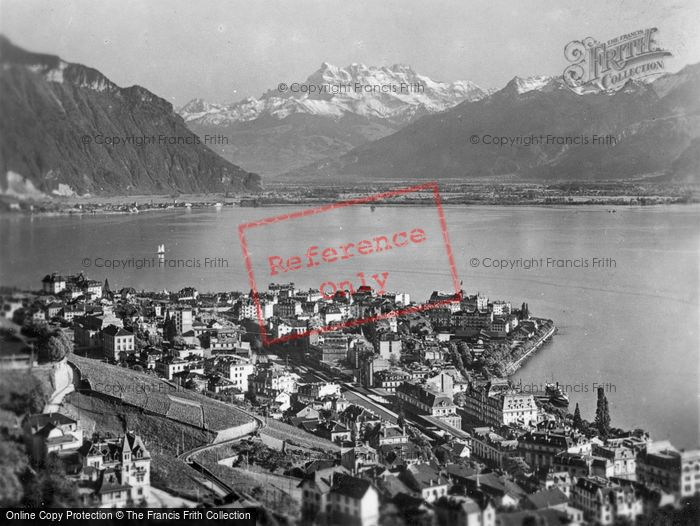 Photo of Montreux, The Town And Dents Du Midi c.1930