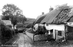 Morcombelake, Old Cottages 1904