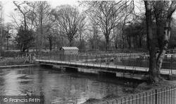 Morden, The Bridge, Ravensbury Park c.1960