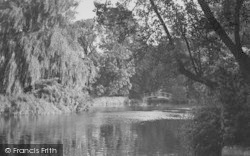 Morden, The River, Morden Hall Grounds c.1955