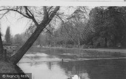 Morden, The River, Ravensbury Park c.1960