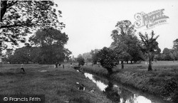Morden, The River Wandle, Morden Hall c.1955