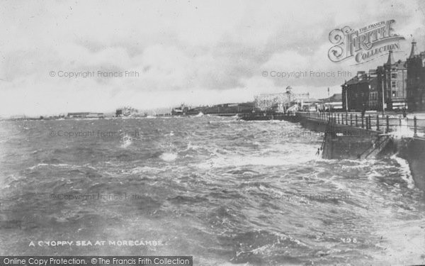 Photo of Morecambe, A Choppy Sea c.1950