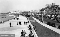 Promenade And Fun Fair c.1950, Morecambe