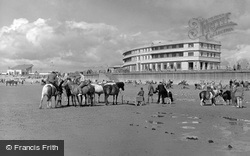 Morecambe, the Sands and Midland Hotel c1955