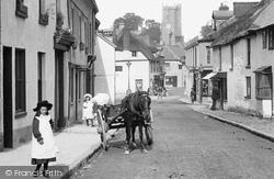 Horse And Cart, Court Street 1906, Moretonhampstead