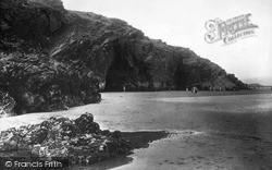 Morfa Bychan, Black Rock Caves c.1930