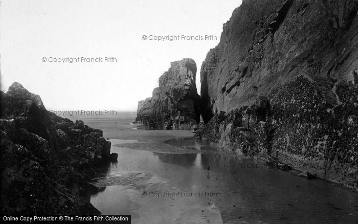 Photo of Morfa Bychan, Black Rock From Black Rock Sands 1931