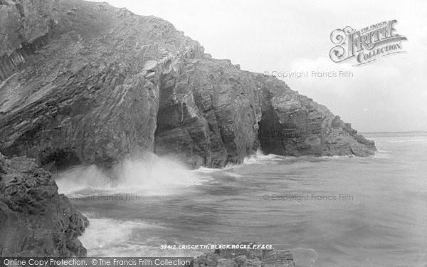 Photo of Morfa Bychan, Black Rock, High Tide 1897