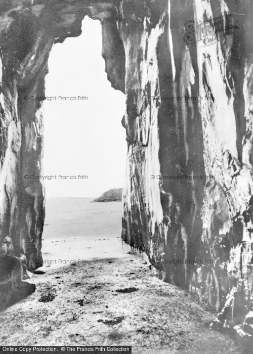 Photo of Morfa Bychan, Black Rock Sands, The Caves c.1960