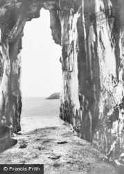 Morfa Bychan, Black Rock Sands, The Caves c.1960