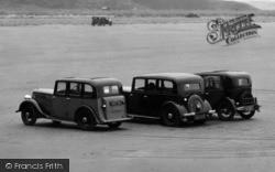 Morfa Bychan, Cars On Black Rock Sands 1936