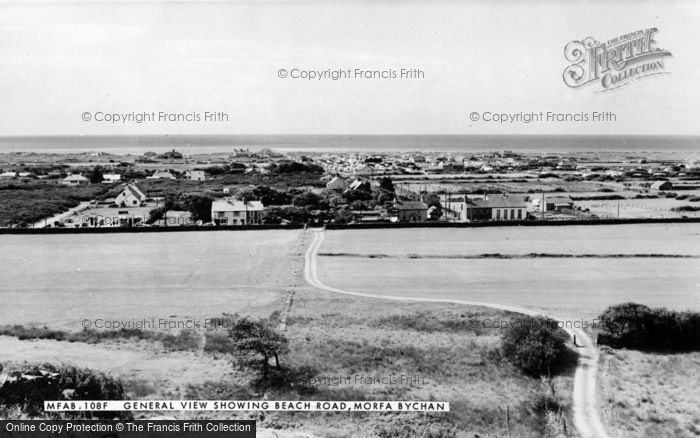 Photo of Morfa Bychan, General View And Beach Road c.1960
