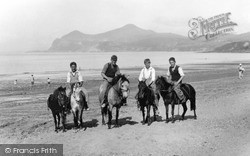 Morfa Nefyn, Ponies On The Beach c.1935