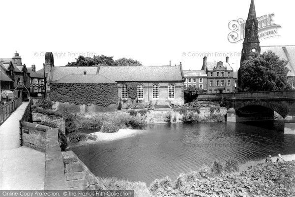 Photo of Morpeth, from the Old Bridge c1960, ref. M251050