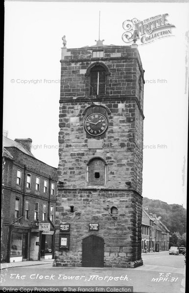 Photo of Morpeth, The Clock Tower c.1955