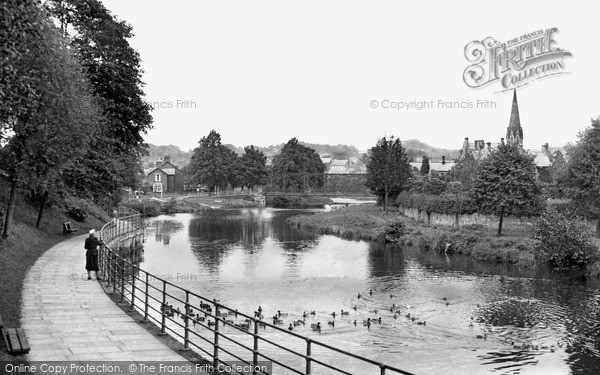 Photo of Morpeth, The River Wansbeck c.1955
