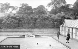 Morriston, Park, Swimming Pool c.1955