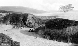 Mortehoe, Barricane Beach c.1885